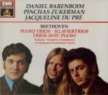 BEETHOVEN - Barenboim - Trio avec piano op.1 n°1