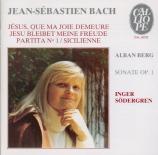 BACH - Södergren - Toccata pour clavier en mi mineur BWV.914