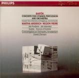 BARTOK - Argerich - Concerto pour deux pianos, percussions et orchestre