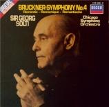 BRUCKNER - Solti - Symphonie n°4 en mi bémol majeur WAB 104