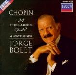 CHOPIN - Bolet - Vingt-quatre préludes pour piano op.28