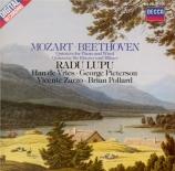 MOZART - Lupu - Quintette pour piano, hautbois, clarinette, cor et basso
