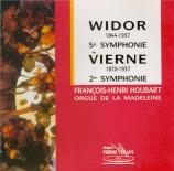 WIDOR - Houbart - Symphonie pour orgue n°5 op.42 n°1
