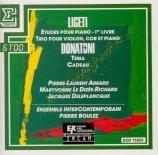 LIGETI - Aimard - Etudes pour piano Livre I