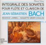 Intégrale des sonates pour flûte et clavecin / vol.2