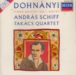 DOHNANYI - Schiff - Quintette avec piano n°1 op.1