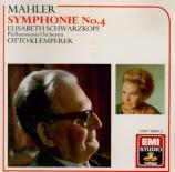 MAHLER - Klemperer - Symphonie n°4