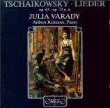 TCHAIKOVSKY - Varady - Six mélodies pour voix et piano op.65