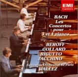 BACH - Wallez - Concerto pour quatre clavecins et cordes en la mineur BW