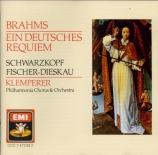 BRAHMS - Klemperer - Ein deutsches Requiem (Un Requiem allemand), pour s