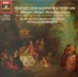 MOZART - Marriner - Sérénade n°13, pour orchestre en sol majeur K.525 'E
