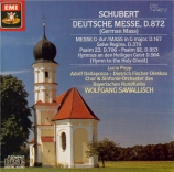 SCHUBERT - Sawallisch - Deutsche Messe, pour choeur et orgue ou orchestre