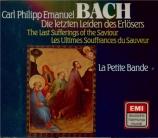 BACH - Kuijken - Die letzten Leiden des erlosers, cantate sur la passion