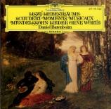 MENDELSSOHN-BARTHOLDY - Barenboim - Romance sans paroles, pour piano en
