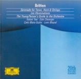 BRITTEN - Giulini - Serenade, cycle de mélodies pour ténor, cor et corde