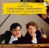 FAURE - Mintz - Sonate pour violon et piano n°1 en la majeur op.13