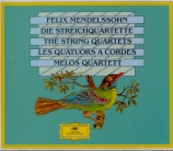 MENDELSSOHN-BARTHOLDY - Melos Quartet - Quatuors à cordes (intégrale)