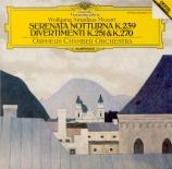 MOZART - Orpheus Chamber - Divertimento n°11, pour orchestre en ré majeu