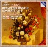 BACH - Pinnock - Concerto brandebourgeois n°4 pour orchestre en sol maje