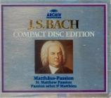 BACH - Richter - Passion selon St Matthieu(Matthäus-Passion), pour soli