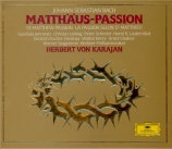 BACH - Karajan - Passion selon St Matthieu(Matthäus-Passion), pour soli