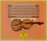 BACH - Milstein - Sonates et partitas pour violon seul BWV 1001-1006