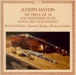 HAYDN - Kuijken - Six trios (divertimenti) pour flûte, violon et violonc