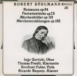 SCHUMANN - Goritzki - Trois romances op.94 : version pour hautbois et pi