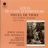 CAIX D'HERVELOIS - Savall - Pièces de viole