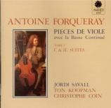 FORQUERAY - Savall - Pièces de viole