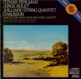CHAUSSON - Perlman - Concert pour piano, violon et quatuor à cordes op.2