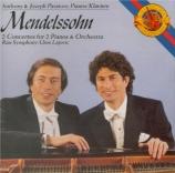 MENDELSSOHN-BARTHOLDY - Paratore - Concerto double pour deux pianos et o