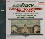 Concerti, Ouverturen, Missa Brevis