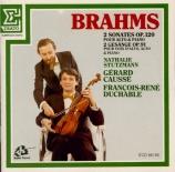BRAHMS - Caussé - Sonate pour alto et piano n°1 en fa mineur op.120 n°1