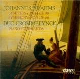 BRAHMS - Duo Crommelynck - Symphonie n°4 pour orchestre en mi mineur op Versions pour piano à 4 mains