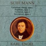 SCHUMANN - Engel - Variations sur le nom 'Abegg', pour piano en fa majeu