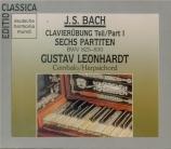 BACH - Leonhardt - Partitas pour clavier BWV 825-830