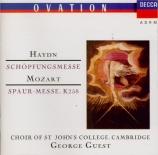 HAYDN - Guest - Schöpfungsmesse (Messe de la création), pour solistes, c