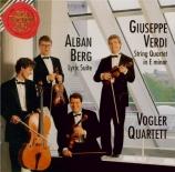 BERG - Vogler Quartett - Suite lyrique pour quatuor à cordes