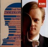 """BERG - Zimmermann - Concerto pour violon 'Dem Andenken eines Engels"""" (A"""