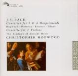 BACH - Hogwood - Concerto pour trois violons en ré majeur BWV.1064R (rec