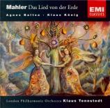 MAHLER - Tennstedt - Das Lied von der Erde (Le chant de la terre), pour