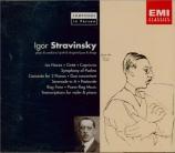 STRAVINSKY - Stravinsky - Les noces, ballet en 4 tableaux, pour solistes