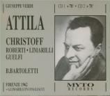 VERDI - Bartoletti - Attila, opéra en trois actes Live Firenze, 1 - 12 - 1962
