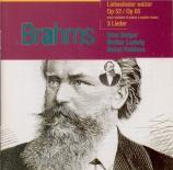 BRAHMS - Berger - Achtzehn Liebeslieder-Walzer, dix-huit valses pour qua