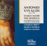 VIVALDI - Mendoze - Stabat Mater en fa mineur, pour alto, cordes et b.c