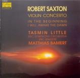 SAXTON - Bamert - In the Beginning