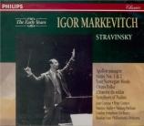 STRAVINSKY - Markevitch - Apollon musagète, ballet en 2 tableaux pour or