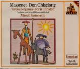 MASSENET - Simonetto - Don Quichotte, comédie héroïque live, RAI Milan le 25 - 05 - 1957 : chanté en italien