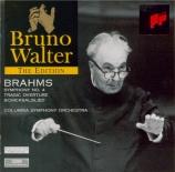 BRAHMS - Walter - Symphonie n°4 pour orchestre en mi mineur op.98